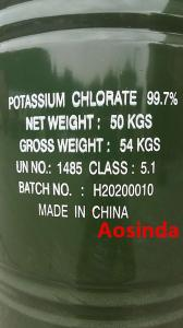 potassium chlorate export to USA